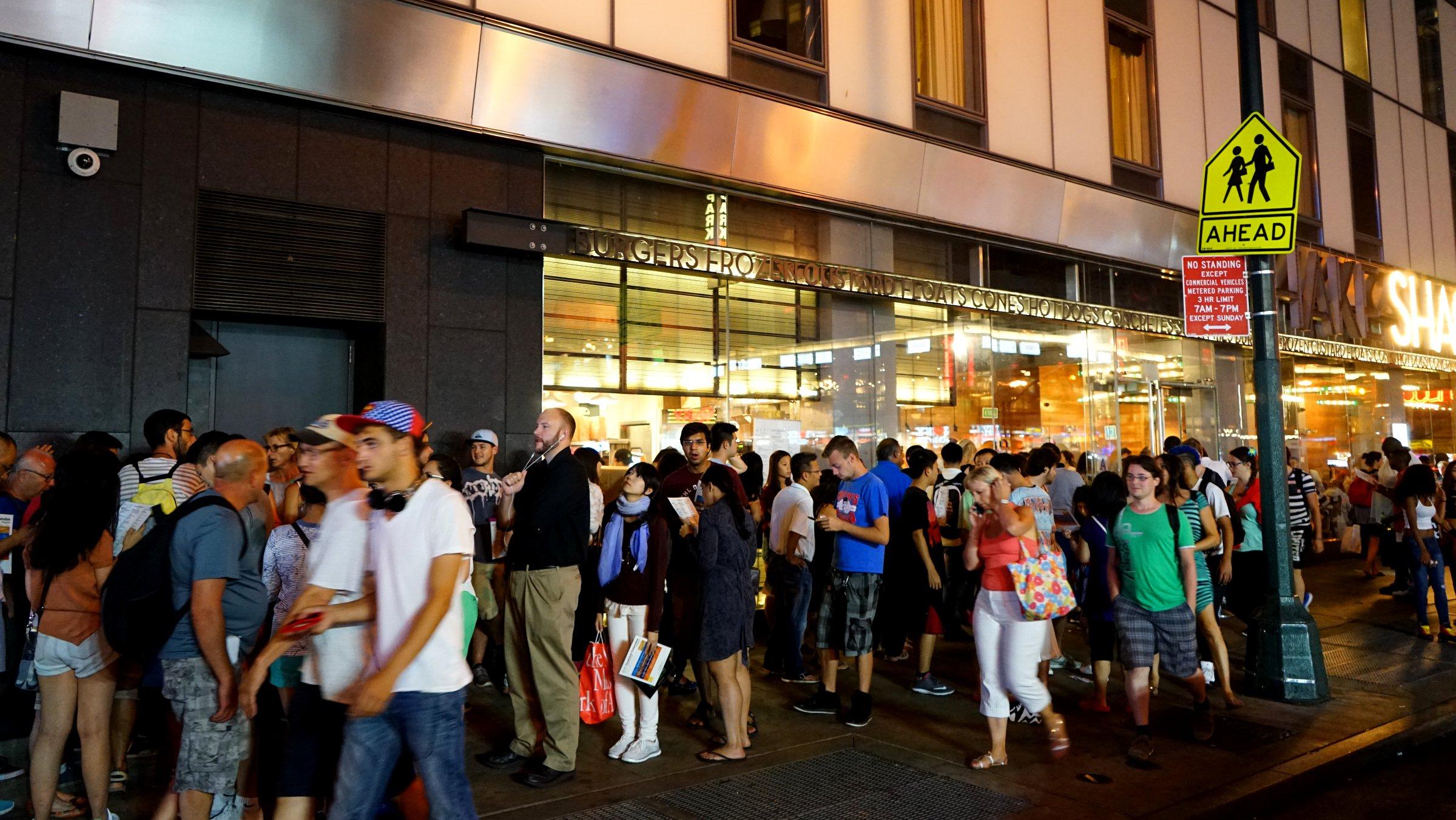ニューヨークのマンハッタン中心部のShake Shackのお店